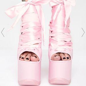 Pink Platform Heels Worn Once